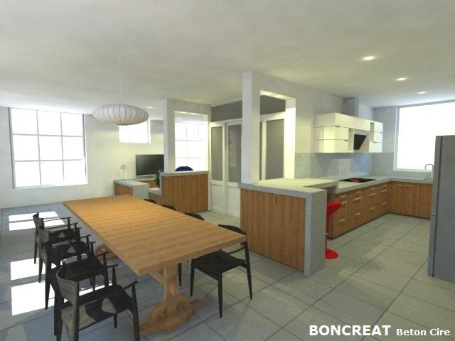 Beton Cire Keuken : Keukenafwerking in betonlook topcire of betoncire